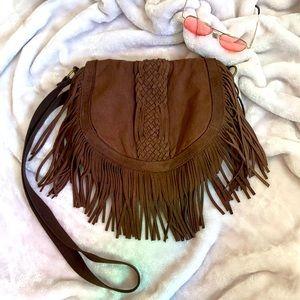 AE Braided Fringe Crossbody Bag